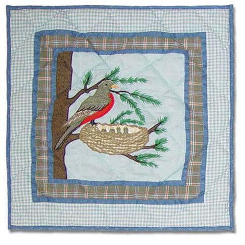 Patch Magic Songbirds Cotton Throw Pillow