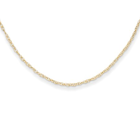 14k Yellow Gold Childs Link Rope Necklace Chain Pendant Charm Gifts For Women For Her