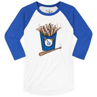 Los Angeles Dodgers Tiny Turnip Women's Hot Bats 3/4 Sleeve Raglan T-Shirt - White/Royal