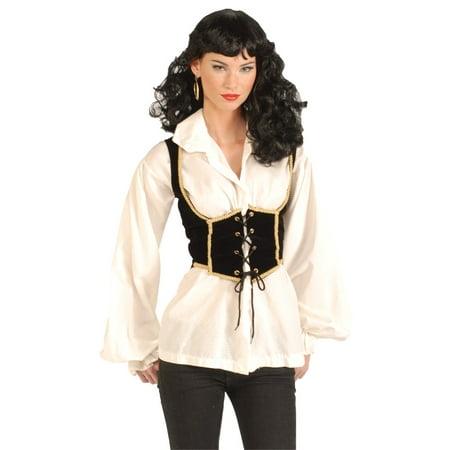 Female Pirate Vest Halloween Accessory