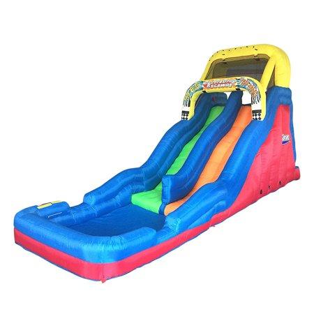 Banzai Double Drop Raceway 2 Lane Inflatable Kids Outdoor Bounce Water