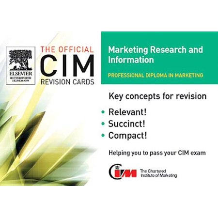 CIM Revision Cards 05/06: Marketing Research and Information - eBook