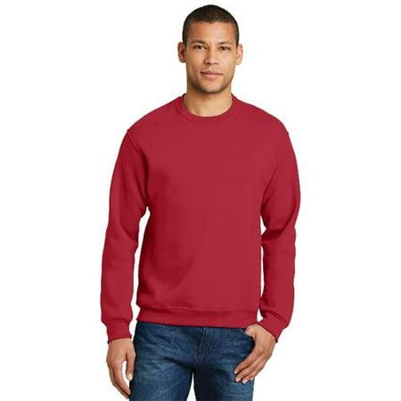Jerzees 562M Mens Nublend Crewneck Sweatshirt  44  True Red   Medium