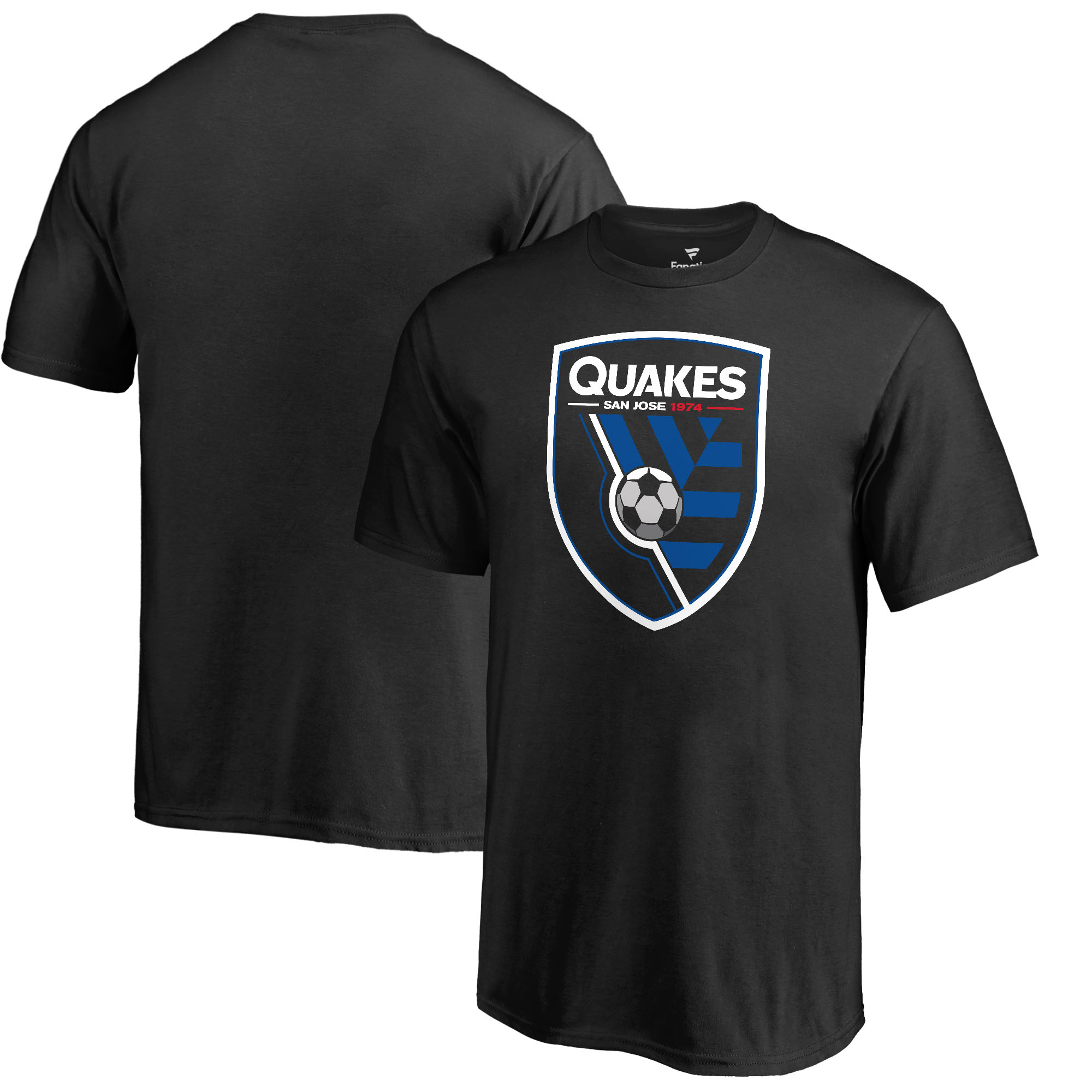 San Jose Earthquakes Fanatics Branded Youth Primary Logo T-Shirt - Black