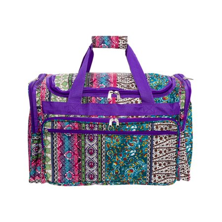 "Womens 22"" Boho Print Carry On Travel Tote Weekender Duffel Bag"