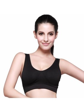 a11c8f0e21 Ekouaer Women Bralette Workout Padded No Bounce Full Support Sport Bra