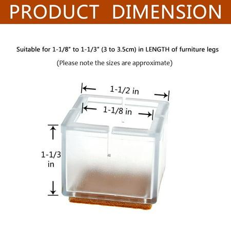 Chair Leg Floor Protectors Warmhut 16pcs Transparent
