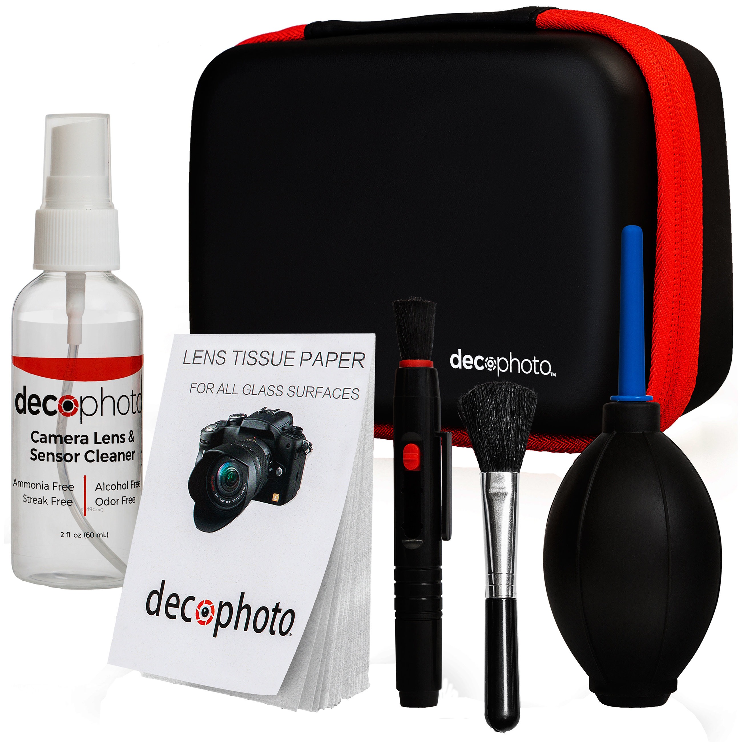 Deco Photo All in One Cleaning Kit for DSLR Cameras w/ Carry Case