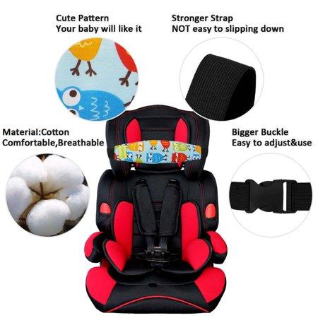 Adjustable Baby Car Seat Head Support Safety Baby Kids Stroller Car Seat Sleep Nap Aid Head Support Holder Belt Band - image 3 de 6