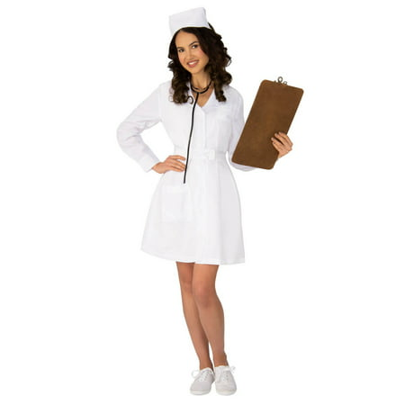 Womens Vintage Nurse Costume - Joker Nurse Halloween Costume