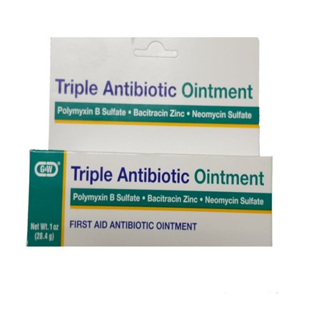 G & W Triple Antibiotic Ointment First Aid 1 Oz. Tube - Prevents