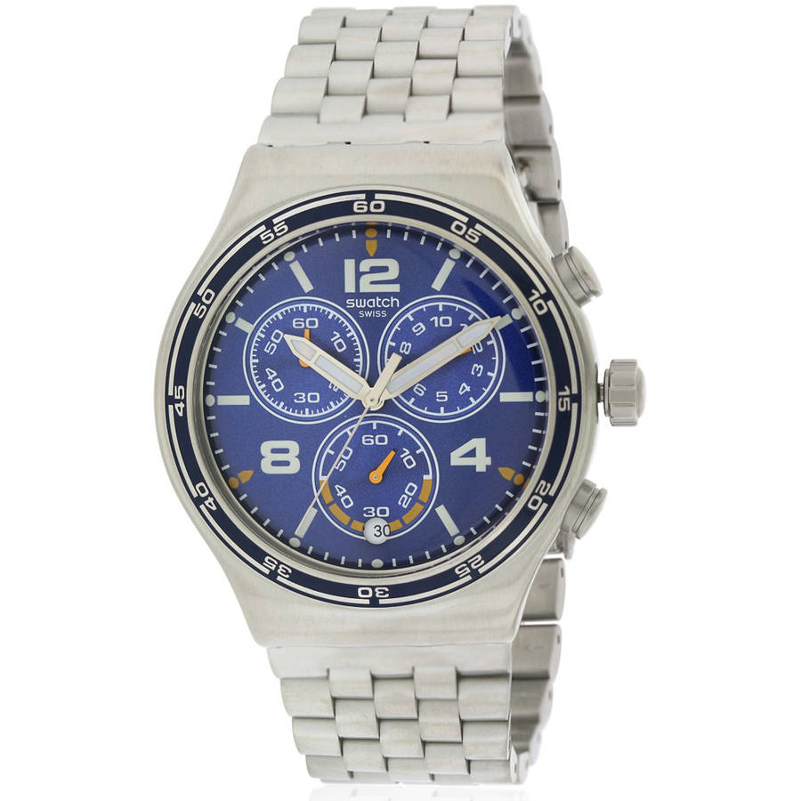 Swatch DESTINATION BARCELONA Stainless Steel Chronograph Mens Watch YVS430G by Swatch