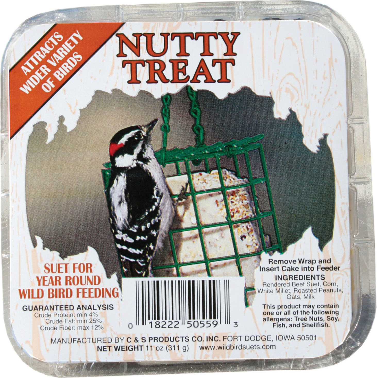 C And S Products Co Inc P-Nutty Treat Picture Label 11 Ounce (Case of 12 )