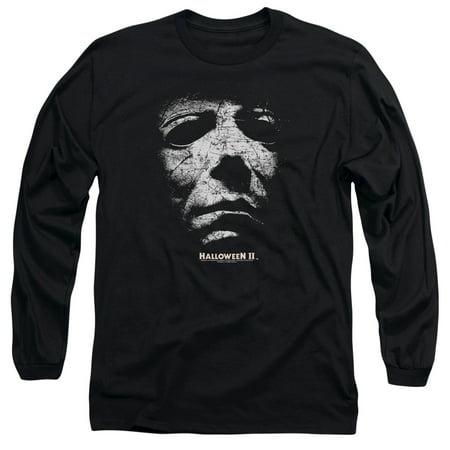 Halloween II Horror Slasher Movie Series Mask Adult Long Sleeve T-Shirt