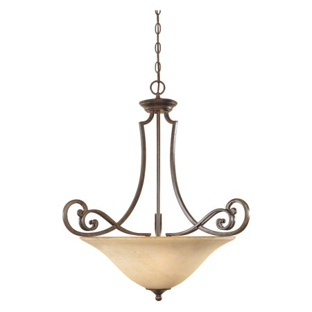 Designers Fountain 81831 Mendocino Inverted Pendant in Forged Sienna Finish