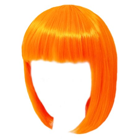 SeasonsTrading Economy Orange Bob Wig - Adult Costume Cosplay Party Wig