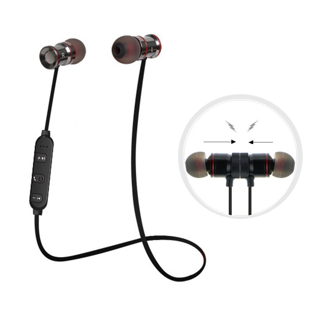 Bluetooth Headphones, EEEKit Magnetic Wireless Earbuds Sports Earphones with Mic Noise Cancellation for iPhone Android Phone Tablet