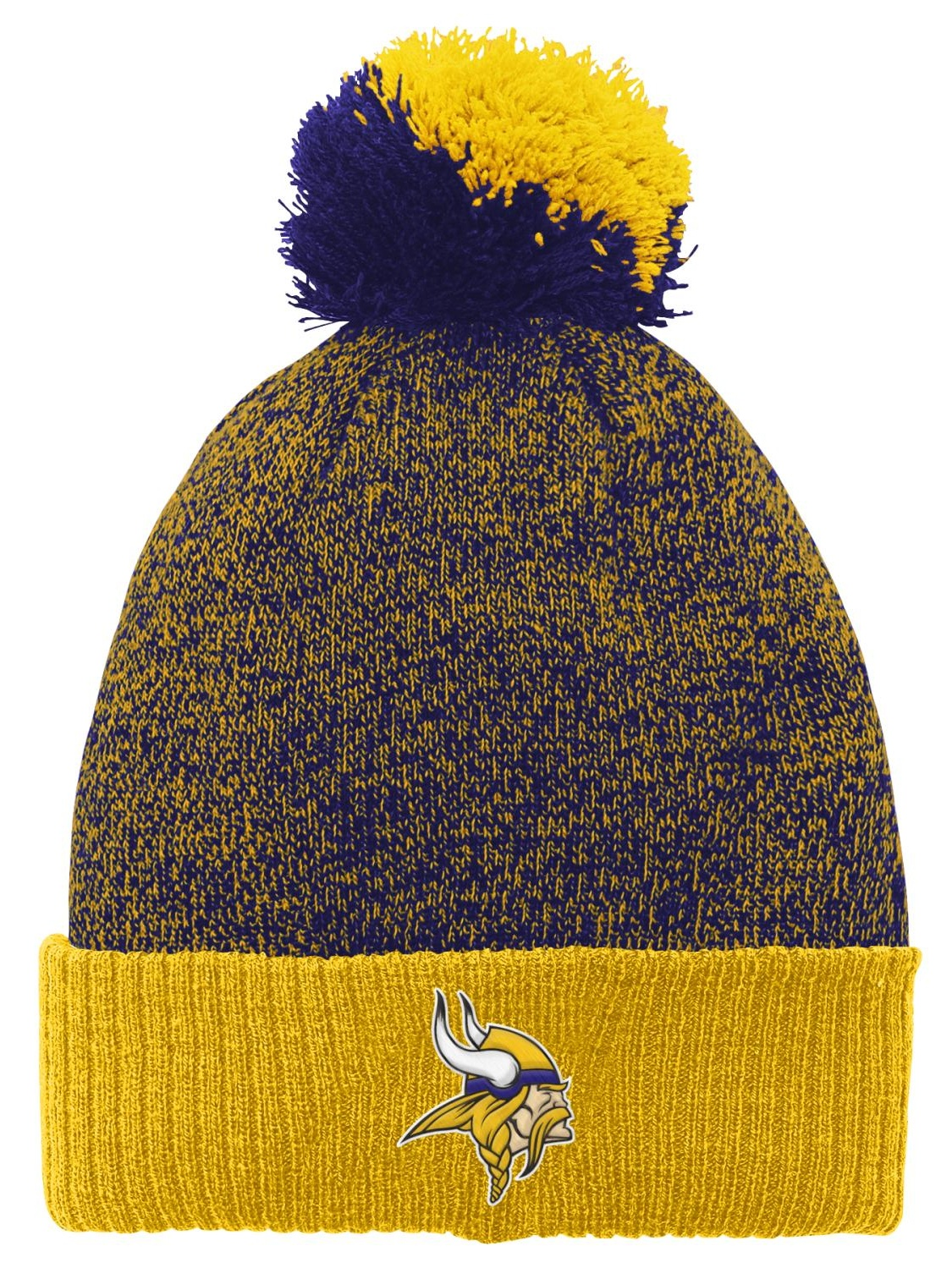"Minnesota Vikings Youth NFL ""Basic"" Cuffed Knit Hat w  Pom by Outerstuff"