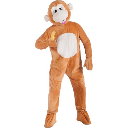 Monkey Mascot Adult Halloween Costume - One Size