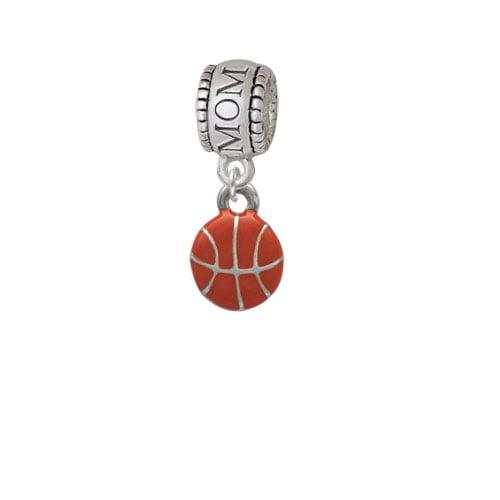 Mini Basketball - Two Sided - Mom Charm Bead