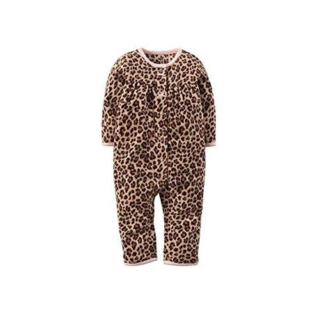 f4819ac89 Carter s - Baby Girls  Fleece Jumpsuit - Cheetah Print (12 Months ...