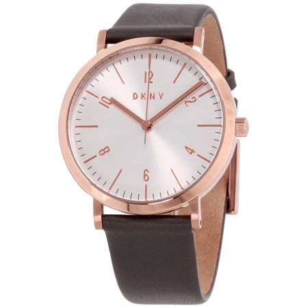 DKNY Minetta Silver Dial Leather Strap Ladies Watch NY2652