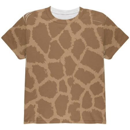 Halloween Giraffe Pattern Costume All Over Youth T Shirt