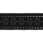 """Expo 10 yards of 3/4"""" Single Row Starlight Hologram Sequin Trim with Sequin Edge"""