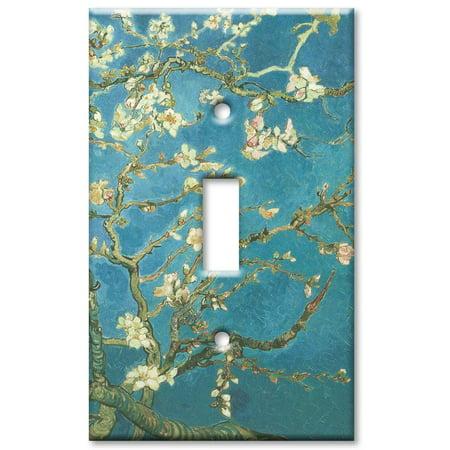 Gang Toggle Plastic Wall Plate - Single Gang Toggle OVERSIZE Wall Plate - Van Gogh: Almond Blossoms