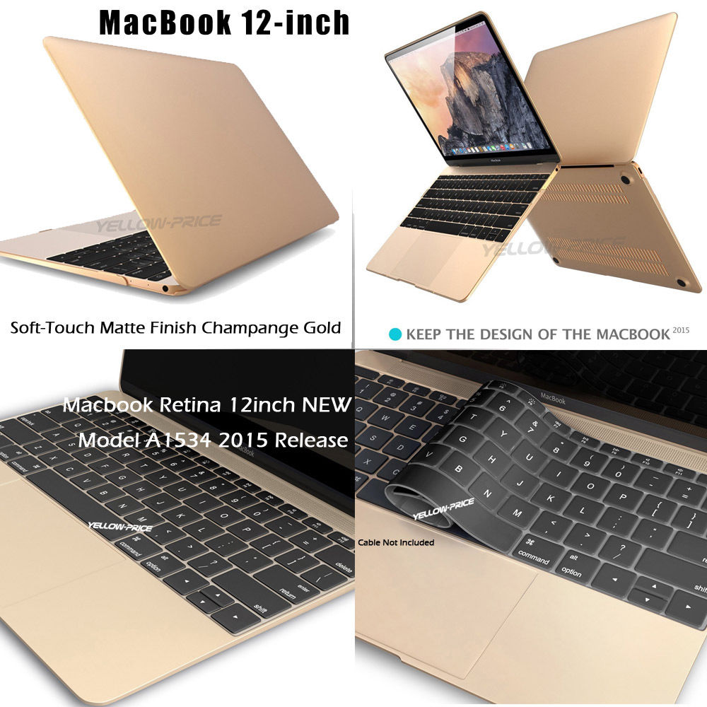 Matte Hard Shell Protective Case Keyboard Cover 2 IN 1 New Macbook Case 12-inch