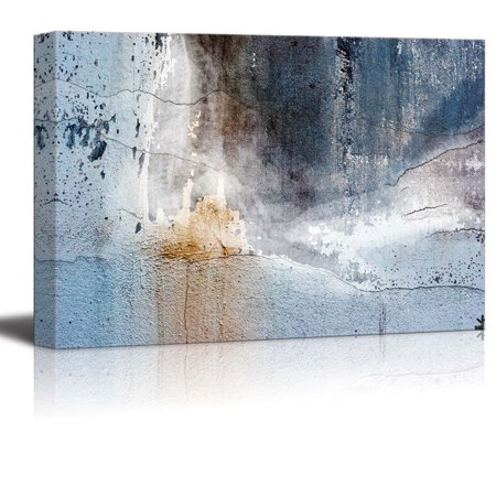 - Abstract Canvas Art - Aged Wall - Giclee Print Modern Wall Decor | Stretched Gallery Wrap Ready to Hang Home Decoration - 24x36 inches