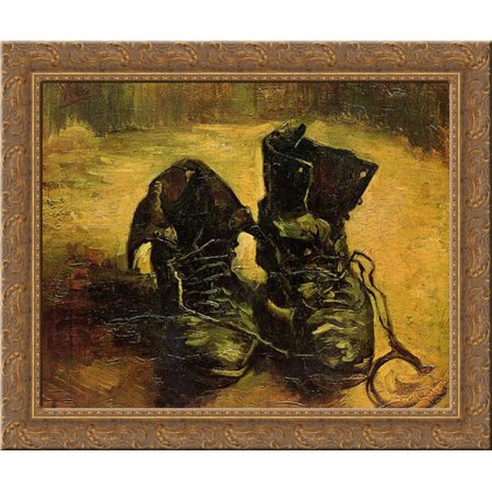 A Pair of Shoes 23x20 Gold Ornate Wood Framed Canvas Art by Van Gogh, Vincent ()