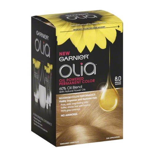Garnier Olia Oil Powered Permanent Color 8.0 Medium Blonde 1 Each (Pack of 3)