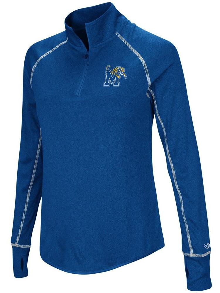 Ladies University of Memphis Tigers Jacket Lightweight Quarter Zip Shirt by Colosseum