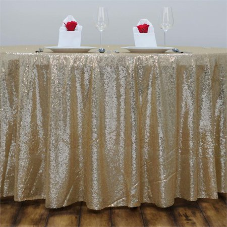 Silver Sequin Tablecloth (Efavormart LUXURY COLLECTION Duchess Sequin Round Tablecloths 90