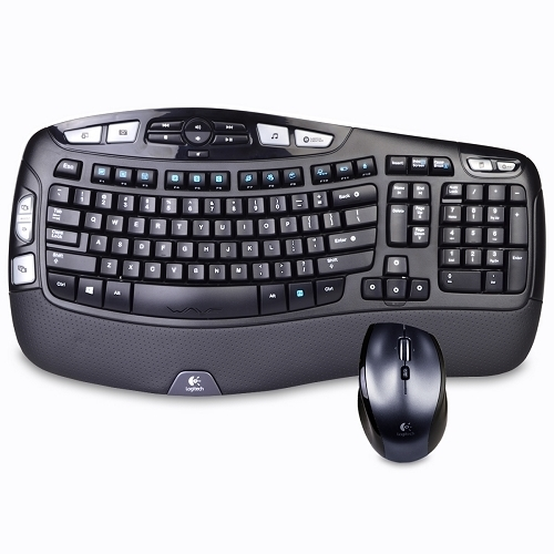 Logitech MK570 Comfort Wave Wireless Keyboard & Laser Mouse (Refurbished)