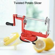 Yosoo Twisted Potato Slicermanual Spiral Potato Slicer Cucumber Tornado Twister Cutter Vegetable Fruit Chips Making Tool Spiral Potato Cutter