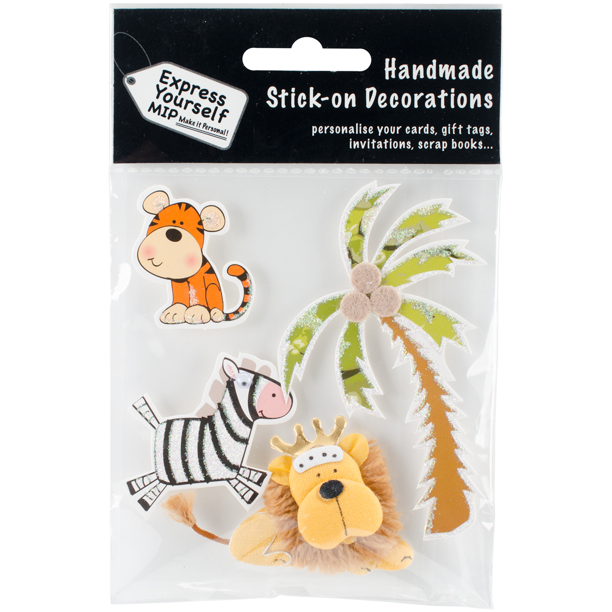 Express Yourself MIP 3D Stickers-Tiger, Lion & Zebra