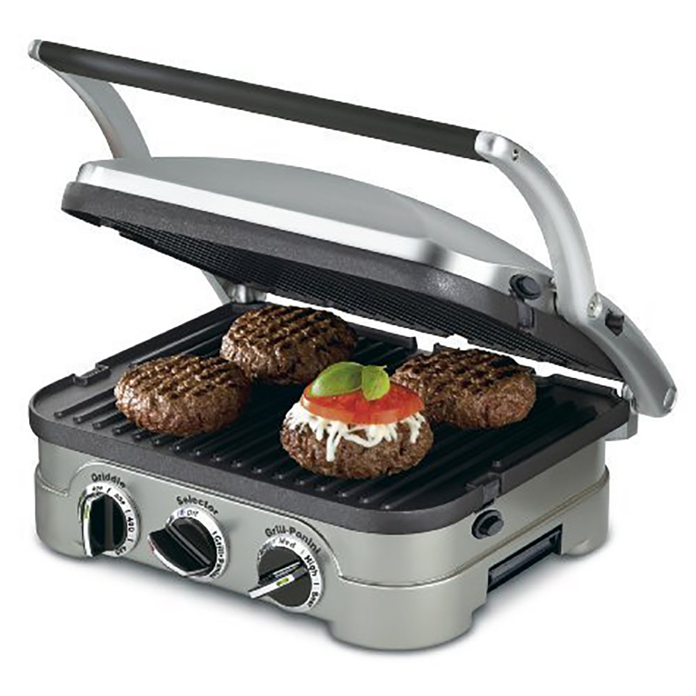 Cuisinart Grill, Panini Press, Flat Grill, & Griddle (Certified Refurbished) by Cuisinart