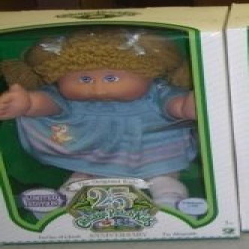 Cabbage Patch Kids 25th Anniversary Doll Caucasian Girl with Mustard Blonde Hair by