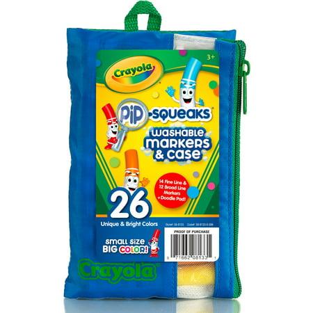 Crayola 26 Count Washable Pip-Squeaks Markers Portfolio - Crayola Pip Squeaks
