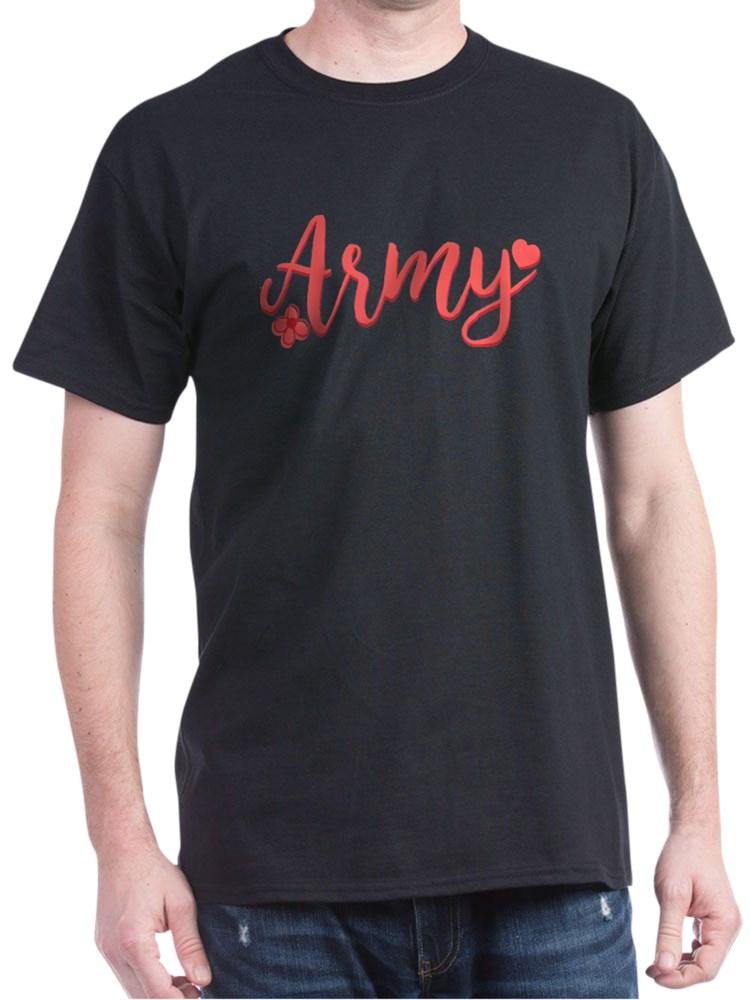 CafePress - Army Girly Text T Shirt - 100% Cotton T-Shirt