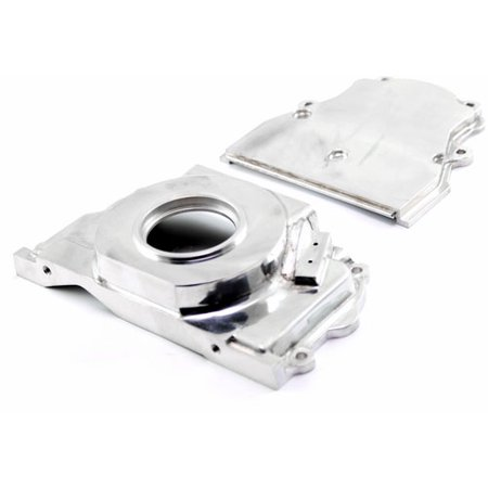 Speedmaster PCE265.1036 Polished Aluminum 2-Piece Timing Chain Cover