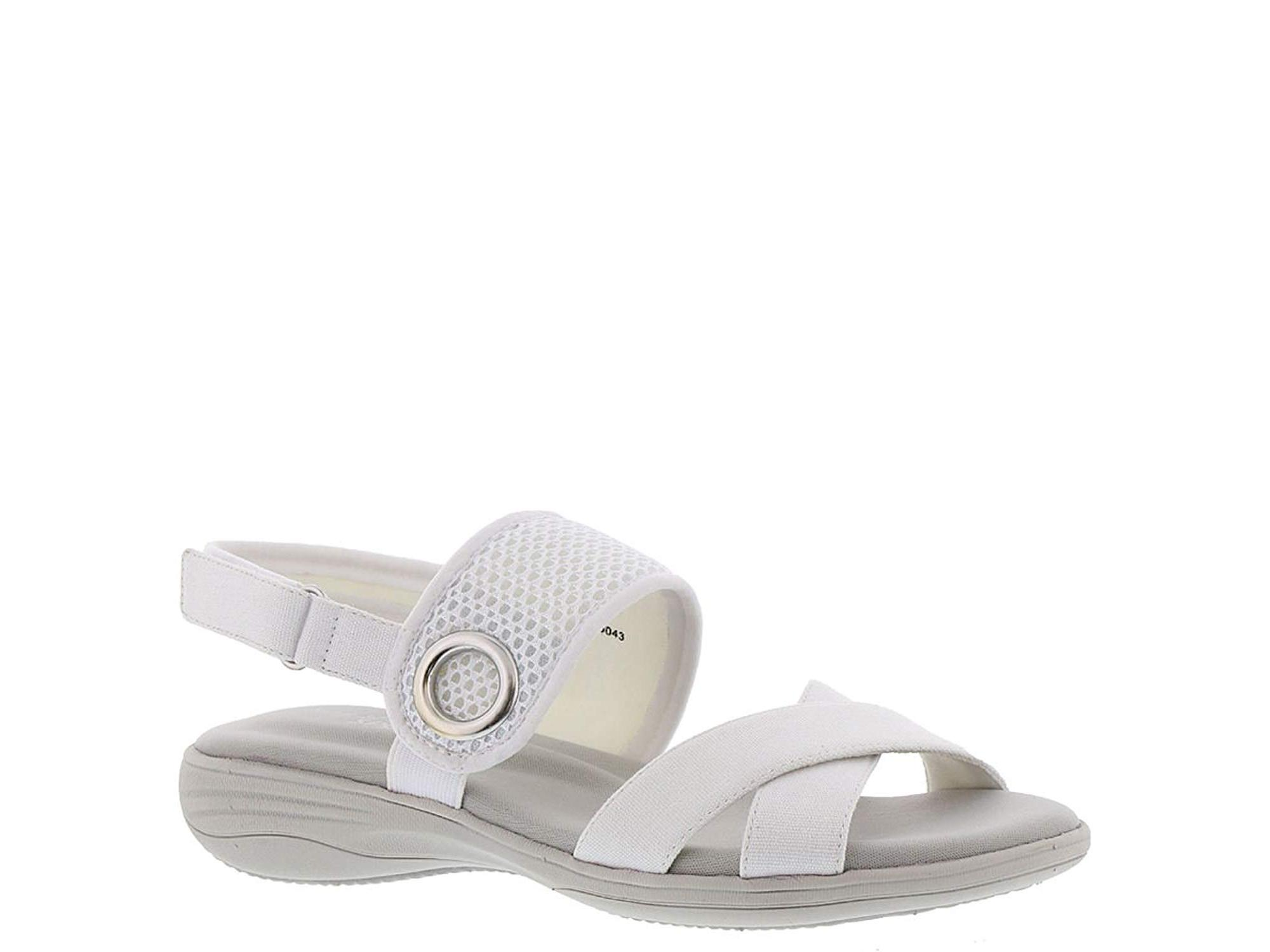 Easy Street 30-8040 Women's Shae Sandal, White Canvas Mesh, Size 10.0 by Easy Street