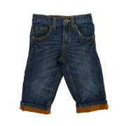 Healthtex Infant Boys Medium Wash Denim Jeans With Orange Cuff