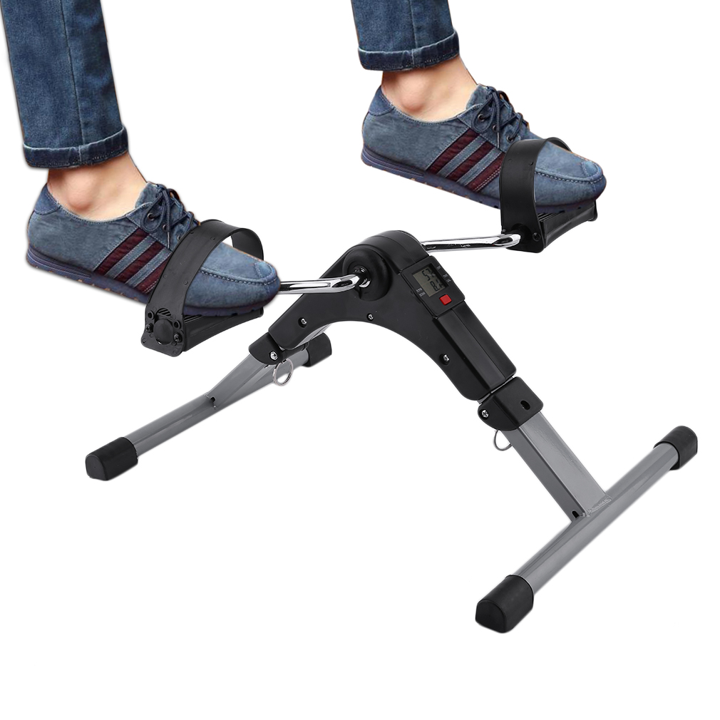 Folding Pedal Exerciser Bike Digital LED Screen Display Cycle Leg Machine Indoor Limbs Training Sports Workout Equipment