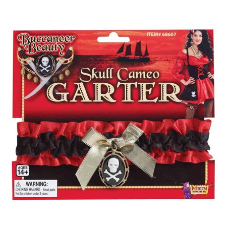 Pirate Wench Costume Skull And Crossbone Cameo Garter