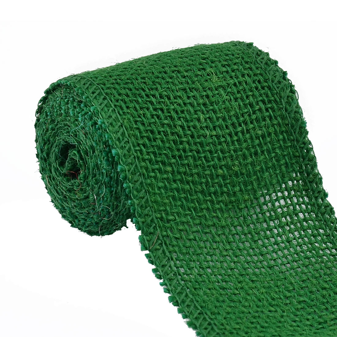 Unique Bargains 2.2 Yard Green Wedding Jute Belt Cord Gift Tags String Wrap Strap Arts Craft Burlap Ribbon Roll