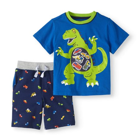 Toddler Boy Graphic T-shirt & French Terry Shorts, 2pc Outfit Set - Thing One Outfit