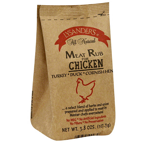Lysander's Meat Rub for Chicken, 3.8 oz, (Pack of 6)